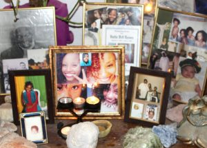Toveet's mother maintains this altar to Toveet in the family home.