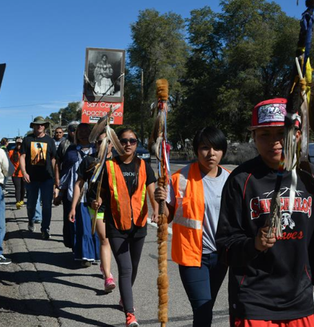 Apache Stronghold is on the march to prevent the sacred site of Oak Flat, Arizona, from becoming the site of the largest copper mine in North America.