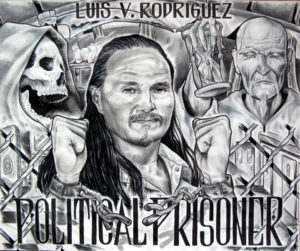 In addition to all his other accomplishments, Luis Rodriguez was also an extraordinary artist. This is a self-portrait.