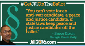 Bruce Dixon quote re Green Party ballot access 2016
