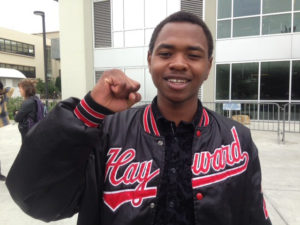 "Hassani Bell, 18, the youngest of the four SF State students on hunger strike, grew up in East Oakland and went to San Leandro High School, where he took ethnic studies courses, KQED reports. ""I hope I can do the same thing my teachers did for me – convince youth that their lives matter. It's hard to believe you really mean something."" – Photo: Natalie Yemenidjian, KQED"