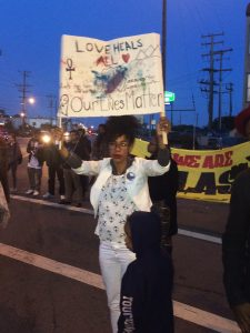 Etecia Brown of The Last 3% and other Black mothers came out to show their love for Jessica. – Photo: Apollonia Jordan
