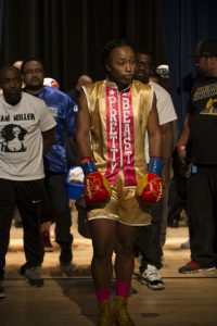 Going into battle, Raquel Miller is prepared and focused. – Photo: Malaika H Kambon