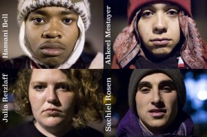 These are the four SFSU hunger strikers. – Photo: Santiago Mejia, Twitter