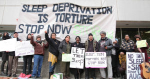 Sleep deprived prisoners' supporters protested outside the headquarters of the California Department of Corrections in Sacramento on Nov. 30, 2015. – Photo: Liberated Lens