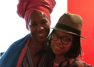 """The Black Woman Is God"" co-curators Karen Seneferu and Melorra Green – Photo: Malaika H Kambon"