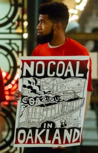 Oaklanders have been protesting constantly against the coal shipments since they learned of the dangers.