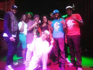 Dead Prez, Apollonia Jordan, JR Valrey, and Khafre Jay were networking and connecting at the Hip Hop for Change Environmental Summit.