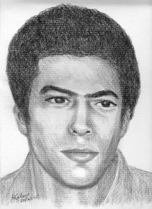 Hugo L.A. Pinell, legendary leader of the California Prison Movement who was held in solitary confinement for a record 46 years, then assassinated in prison on Aug. 12, 2015, was affectionately known as Yogi Bear and often called Yogi or Yog. This is his likeness as a young man. – Art: Kiilu Nyasha