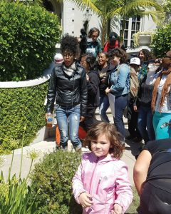 POOR has also been conducting Stolen Land Tours – this one in Oakland's Piedmont District – going door to door to talk to the 1 percent about redistributing some of their wealth. They're even finding some who are willing to discuss how they can help. – Photo: Tiny, Poor News Network