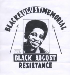"""Black August Resistance"" – Art: Kevin ""Rashid"" Johnson, 1859887, Clements Unit, 9601 Spur 591, Amarillo TX 79107"