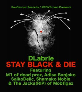DLabrie 'Stay Black & Die' poster