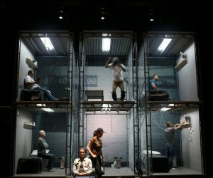 """Actors rehearse """"The Box,"""" a play about solitary confinement written by Sarah Shourd, at Z Space in San Francisco, on Friday, July 1. – Photo: Anda Chu, Bay Area News Group"""