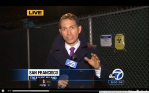 Sergio Quintana reports on Treasure Island radiation 111313 for ABC7