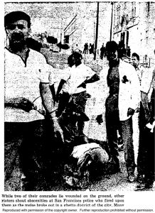 Standing on Newcomb with two fallen comrades, protesters express outrage. The iconic entrance to the Bayview Opera House can be seen at the upper right in this photo from what was then the nation's leading Black newspaper, published daily. – Photo: Chicago Daily Defender