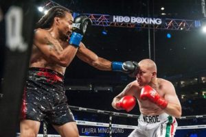 On Saturday, Aug. 6, 2016, Bilal Mahasin (9-3-1, 1 KO) took on Luis Lugo (14-26-1, 5 KOs) for four rounds in the Oracle Arena, Oakland, on the Andre Ward vs. Alexander Brand undercard. – Photo: Laura Ming Wong