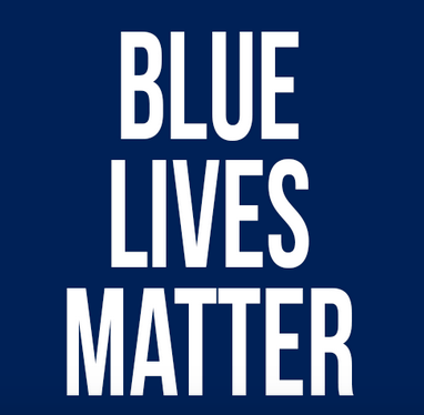 'Blue Lives Matter' poster