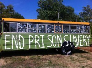 End-Prison-Slavery-090916-bus-by-Wisconsin-Bail-Out-the-People-Movement-300x224, Sept. 9: Strike against prison slavery, strike against white supremacy, Behind Enemy Lines