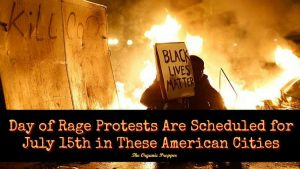 """The rumor-busting website Snopes.com illustrated its story labeling the call for a July 15 """"Day of Rage,"""" falsely attributed to Anonymous, as a hoax with this provocative photo that makes people even more fearful."""