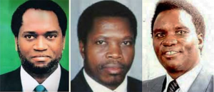 Melchior Ndadaye, the first elected president of Burundi, Cyprien Ntaryamira, his successor, and Juvenal Habyarimana, the second president of Rwanda. Ndadaye was assassinated in Burundi on Oct. 21, 1993; Ntaryamire and Habyarimana were assassinated in Rwanda on April 6, 1994. No one was ever indicted or prosecuted for Ntaryamira and Habyarimana's assassination.