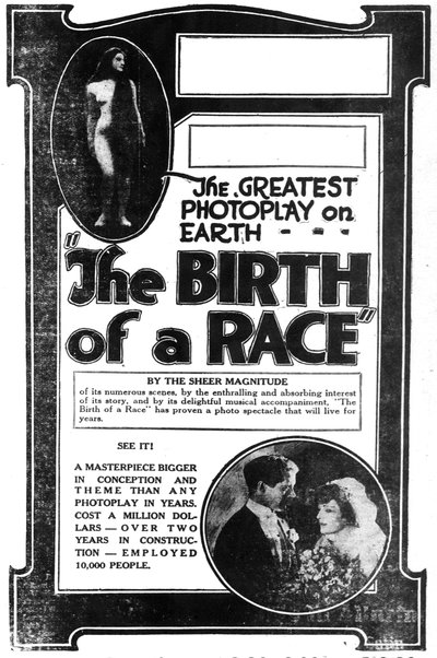 'The Birth of a Race' film by Booker T. Washington et al