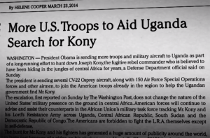 New York Times, March 23, 2014
