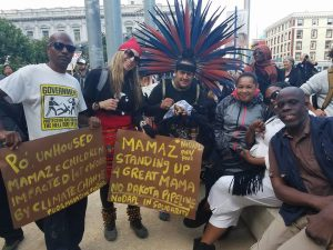 The multi-nation POOR crew was well represented at the solidarity protest in San Francisco. – Photo: Poor News Network