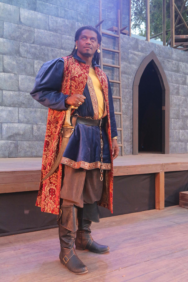 Dameion Brown as Othello in Marin Shakespeare production
