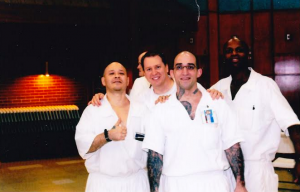 Malik (in front) and his comrades in the Coffield Unit in Texas are committed to ending prison slavery.