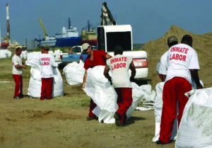 Prisoners were used to clean the beaches after the 2010 BP oil spill in the Gulf, the largest marine oil spill in history. Exposed to deadly toxins, they were given no protective gear, evidence that prisoners used as slave labor are expendable.