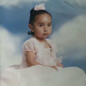 This is Jasmine as a little girl.
