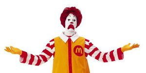 Imagine how sad Ronald McDonald would be if McDonald's had to pay real wages for its products produced by prisoners working for pennies an hour. Boycott McDonald's and tell them you'll come back when they stop using prison slave labor.
