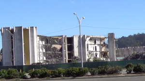 Starburst Barracks has become a bombed-out shell. – Photo: Carol Harvey