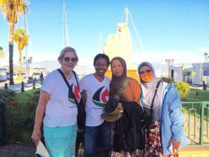 Some of the women who will be aboard the Women's Boat to Gaza are Ann Wright, LisaGay Hamilton, Norsham Binti Abubakra, Dr. Fauziah Hasan