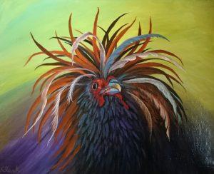 """Rooster Pride"" – Art: Royal Clark, J-51100, 3-EB-87L, San Quentin State Prison, San Quentin, CA 94974"
