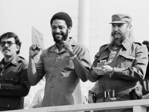 Daniel Ortega of Nicaragua, Maurice Bishop of Grenada, Fidel Castro of Cuba