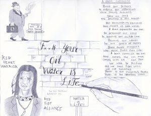 """Water Is Life"" – Art: Peter Kamau Mukuria, 1197165, Red Onion State Prison, P.O. Box 1900, Pound VA 24279"