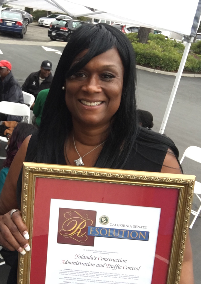 Yolanda-Jones-CEO-of-YCAT-C-awarded-Small-Business-of-the-Year-proclamation-by-Sen.-Mark-Leno-1016, 'When Yolanda Jones succeeds, we all succeed!' say state leaders, Local News & Views