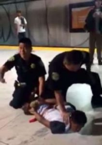BART-cops-brutally-arrest-Michael-Smith-22-Embarcadero-station-072916-vid-by-Tarina-Larsen-211x300, Acquittal, hung jury for Michael Smith, beaten by BART cops on video, Local News & Views