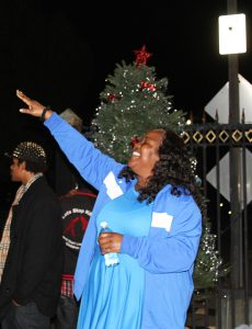 Double-Rock-tree-lighting-praise-dancer-Elisha-Rochell-River-of-Life-112616-by-Price-Dean-web-230x300, Second annual Christmas tree lighting brings joy and love to Double Rock – activities continue through the year, Local News & Views