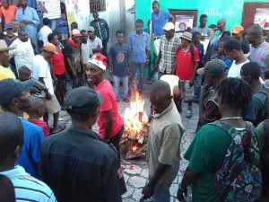 Haiti-election-protest-Day-33-pro-democracy-demo-122516-by-HIP-web-300x225, Resisting the lynching of Haitian liberty!, World News & Views