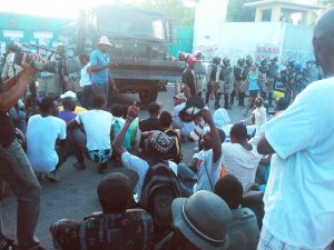 Haiti-election-protest-sit-in-to-block-streets-1216-by-HIP-web-300x225, Resisting the lynching of Haitian liberty!, World News & Views