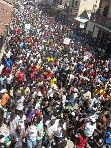 Haiti-election-protest-tens-of-thousands-pack-streets-daily-1216-by-HIP-1-web-225x300, Resisting the lynching of Haitian liberty!, World News & Views