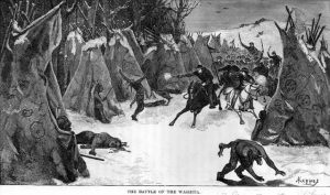 President Lincoln ordered troops to march against the starving Sioux in Minnesota on the same day in 1865 he declared Thanksgiving a holiday.