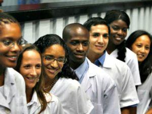 US-grads-of-Cuban-med-school-by-Javier-Galeano-AP-300x225, Telling lies about Fidel, World News & Views