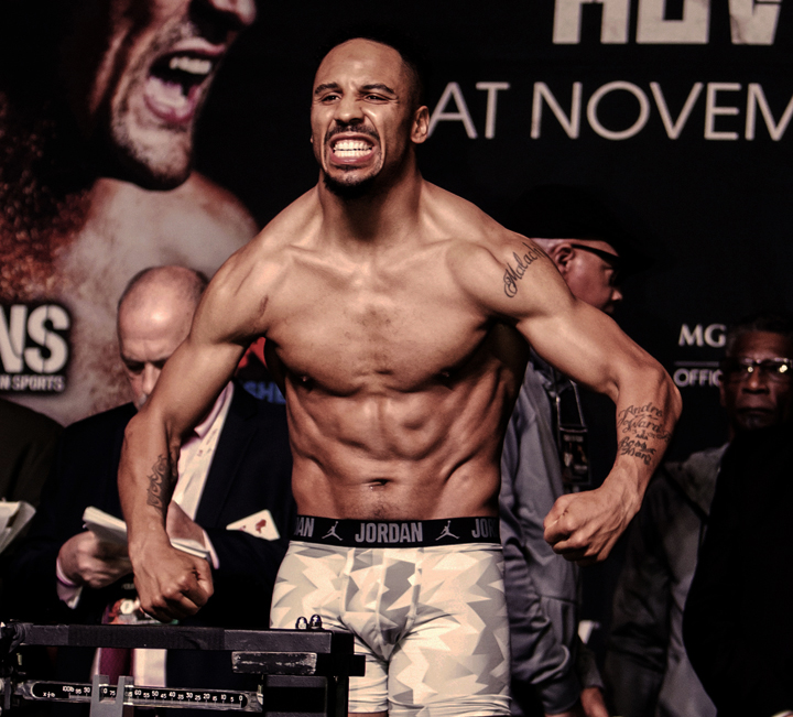 The fighters were unusually hostile at the weigh-in Nov. 18. – Photo: Malaika Kambon