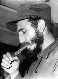 Young-Fidel-Castro-lights-cigar, Wanda's Picks for December 2016, Culture Currents