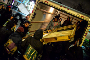 FeedthePeople-Asians4BlackLives-unload-truck-build-village-Marcus-Garvey-Park-012117-by-Asians-4-Black-Lives-300x200, Marcus Garvey Park in Oakland reclaimed for community housing and services by homeless residents, activists, Local News & Views
