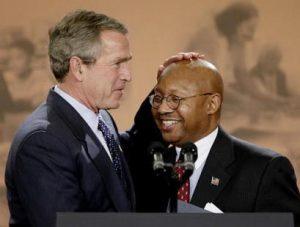 George-W.-Bush-Alphonso-Jackson-300x227, Disgraced former HUD secretary vouches for Trump pick Ben Carson to run HUD, Local News & Views National News & Views