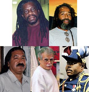 Mutulu-Shakur-Veronza-Bowers-Leonard-Peltier-Oscar-Lopez-Rivera-Marcus-Garvey-composite, President Obama, grant clemency to Dr. Mutulu, Veronza, Leonard, Oscar and, posthumously, Marcus Garvey, Behind Enemy Lines